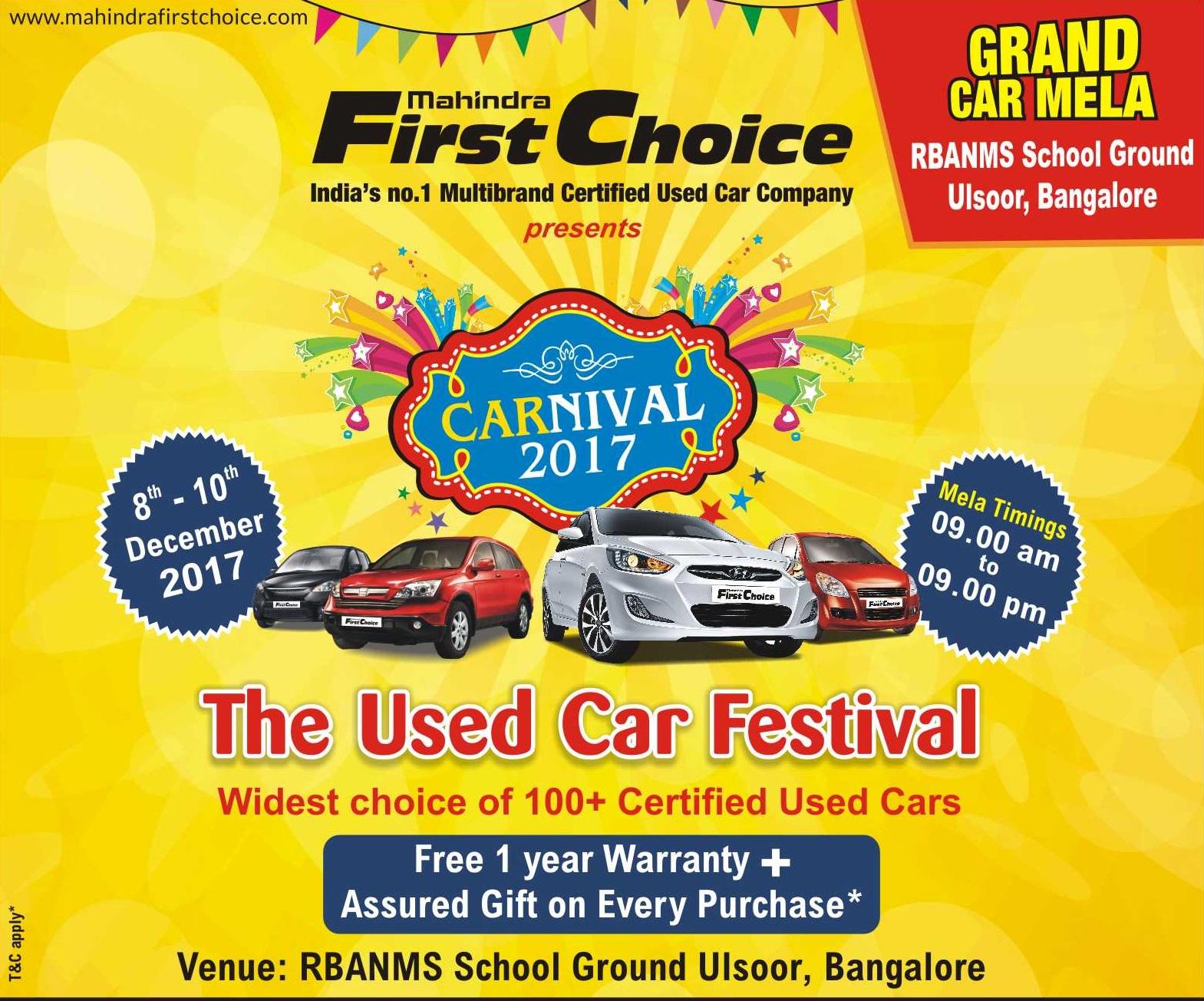 Mahindra First Choice Used Cars Bangalore